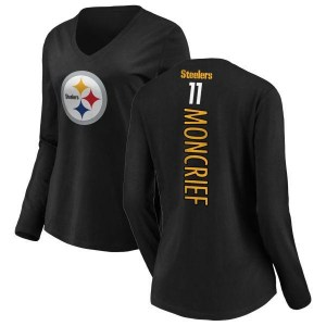 Donte Moncrief Pittsburgh Steelers Women's Black Backer Slim Fit Long Sleeve T-Shirt -