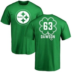 Dermontti Dawson Pittsburgh Steelers Youth Green St. Patrick's Day Name & Number T-Shirt
