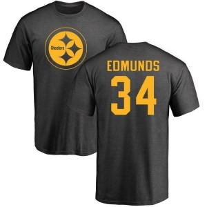 Terrell Edmunds Pittsburgh Steelers Men's Pro Line by Branded One Color T-Shirt - Ash