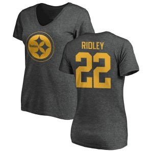 Stevan Ridley Pittsburgh Steelers Women's Pro Line by Branded One Color T-Shirt - Ash