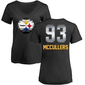 Dan McCullers Pittsburgh Steelers Women's Black by Midnight Mascot T-Shirt -