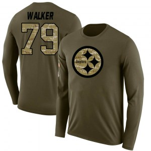 Cavon Walker Pittsburgh Steelers Youth Legend Olive Salute to Service Sideline Long Sleeve T-Shirt