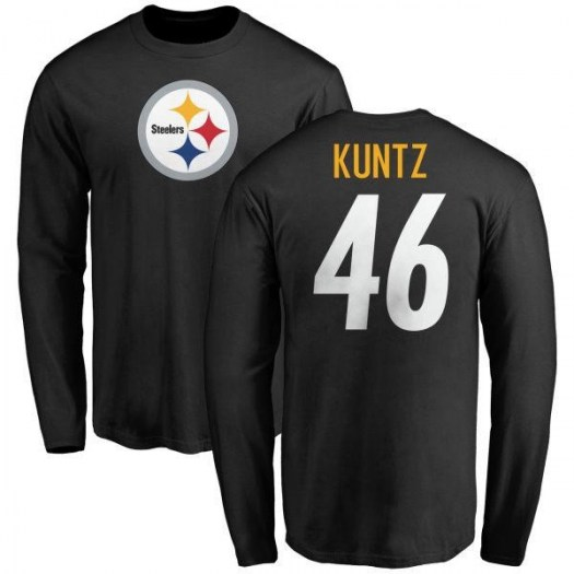 Christian Kuntz Pittsburgh Steelers Youth Black Name & Number Logo Long Sleeve T-Shirt -