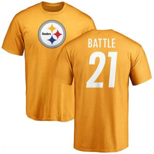 John Battle Pittsburgh Steelers Youth Gold Name & Number Logo T-Shirt -