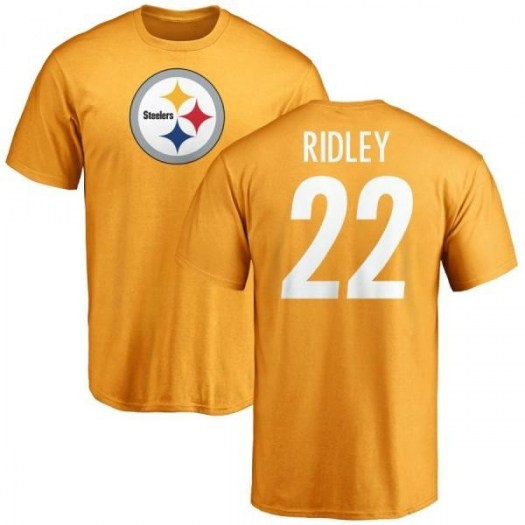 Stevan Ridley Pittsburgh Steelers Men's Gold Pro Line Name & Number Logo T-Shirt -
