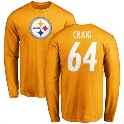 Winston Craig Pittsburgh Steelers Youth Gold Name & Number Logo Long Sleeve T-Shirt -