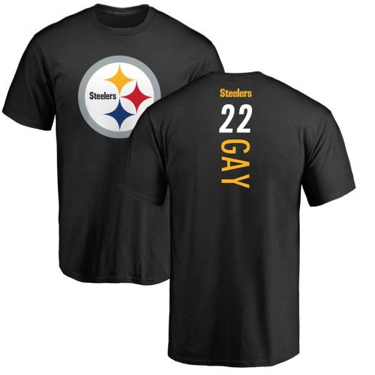 William Gay Pittsburgh Steelers Men's Black Backer T-Shirt -