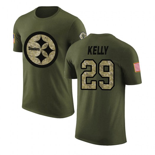 Kam Kelly Pittsburgh Steelers Youth Legend Olive Salute to Service T-Shirt