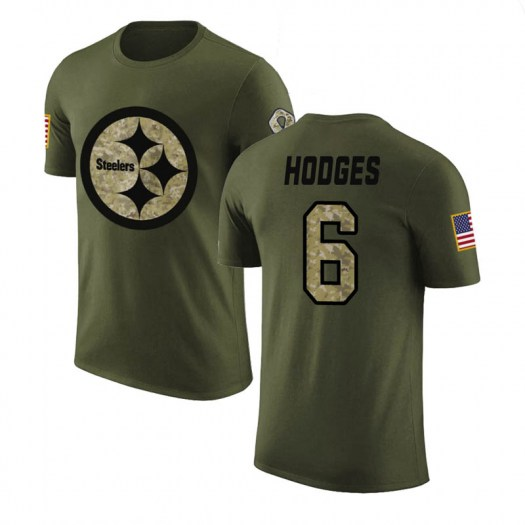Devlin Hodges Pittsburgh Steelers Men's Legend Olive Salute to Service T-Shirt