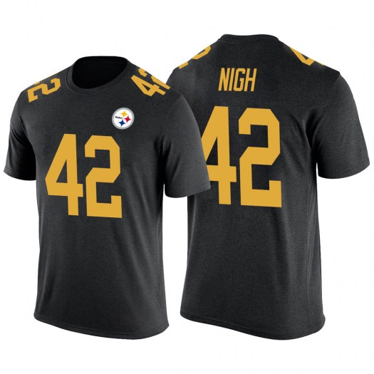 Spencer Nigh Pittsburgh Steelers Youth Legend Black Color Rush T-Shirt