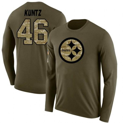 Christian Kuntz Pittsburgh Steelers Youth Legend Olive Salute to Service Sideline Long Sleeve T-Shirt
