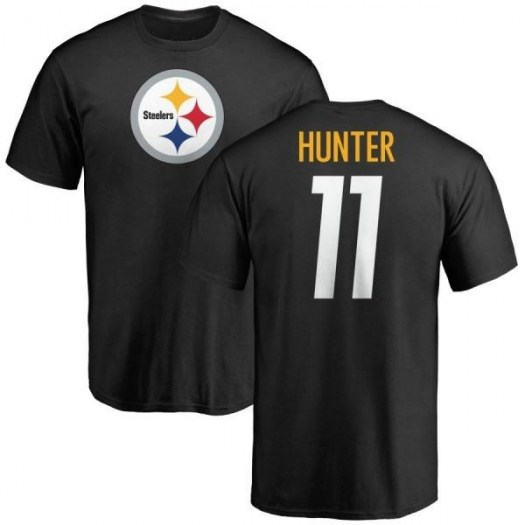 Justin Hunter Pittsburgh Steelers Youth Black Pro Line Any Name & Number Logo T-Shirt -